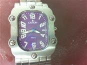"CROTON Gent's Wristwatch CN307401 Purple Rectangle Face fits 9"" Wrist"